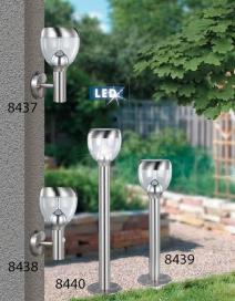 Dresden kült álló 96cm LED6,5W inox IP44 RA 8440
