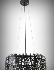 Alessandra függ. E27 2x60W,matt fekete RA 2157