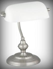 Bank asztali lámpa, E27 60W, szatin króm RA 4037