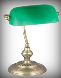 Bank asztali lámpa, E27 60W, bronz RA 4038