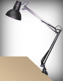 Arno asztali E27 60W,fekete,fém satu RA 4215