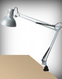 Arno asztali E27 60W,ezüst,fém satuval RA 4216