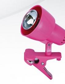 Clip csipt.spot E14 40W pink  ffnélkül RA 4359
