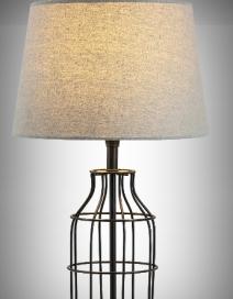 Ava asztali lámpa, E27 40W,szürke/fekete RA 4385