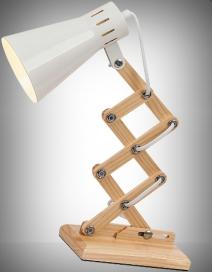 Edgar asztali lámpa E14 max25W fehér+fa RA 4430