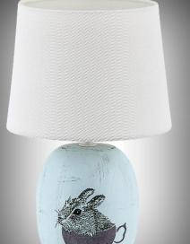 Dorka kerámia asztali E14 1x40W, kék RA 4603