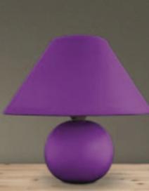 Ariel kerámia asztali E14 40W, lila RA 4920